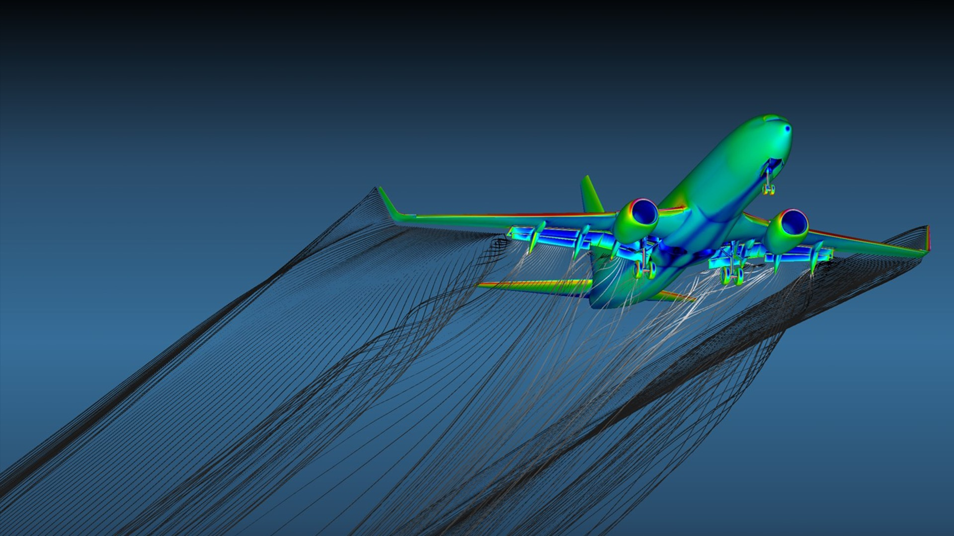 Commercial airline manufacturers use ICFD++ for design.  Aerodynamic loads on complete airplane can be computed with accuracy.